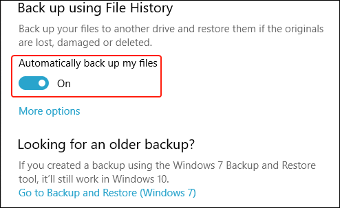 automatically backup files